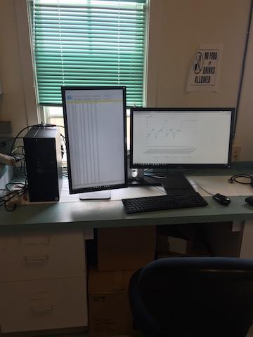 Time-series Data Interface Computer Setup